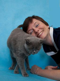 Я и моя воспитанница - британская кошка.